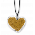 Necklace - Coeur Medium Billes