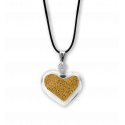 Necklace - Coeur nano billes