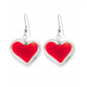 Coeur Milk - Hook earrings Red