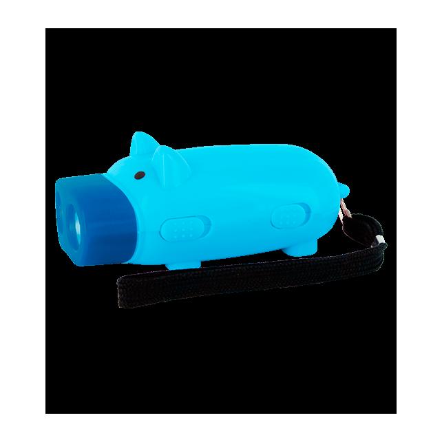 Pig Light - Lampe Dynamo Cochon Bleu