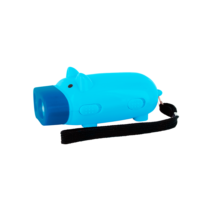 Pig Light - Lampe Dynamo Cochon Blue