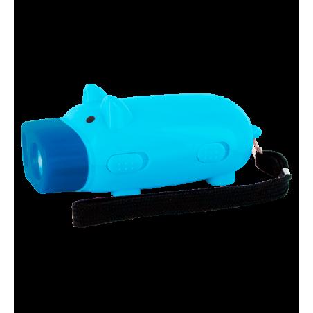 Pig Light - Dynamolampe Schwein Blau