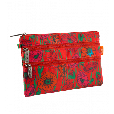 Pochette 3 zips - Zip It - Coquelicots