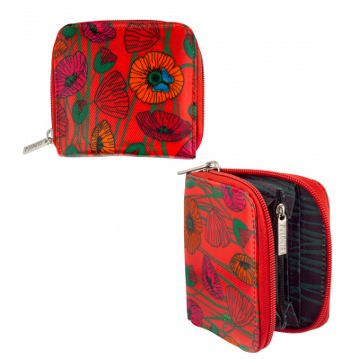 Small wallet - Voyage - Coquelicots