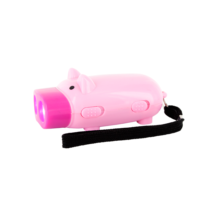 Pig Light - Lampe Dynamo Cochon Rose