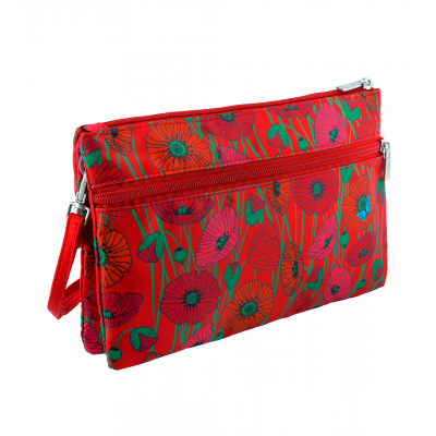 Umhängetasche  - Shoulder Bag - Coquelicots