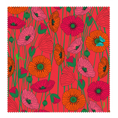 Microfibre cloth for glasses - Belle Vue - Coquelicots