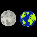 Set de 2 dessous de verre - Terre Lune Party Astronaute