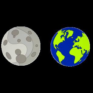 2 Untersetzer - Terre Lune Party