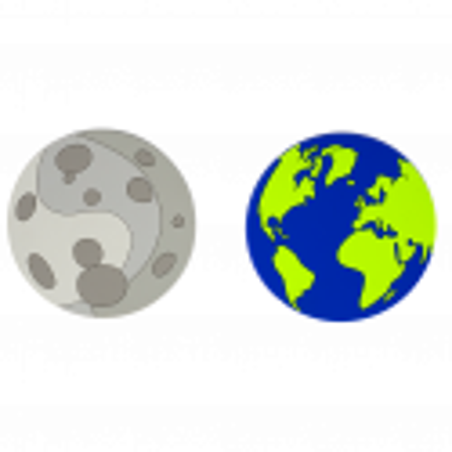 Set de 2 dessous de verre - Terre Lune Party