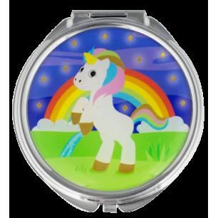 Pocket mirror - Lady Look - Unicorn