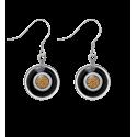 Boucles d'oreilles crochet - Duo Milk Blanc / Noir