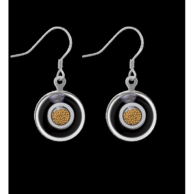 Duo Milk - Hook earrings Black / Gold