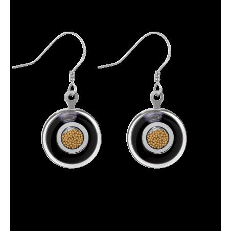 Duo Milk - Hook earrings White / black