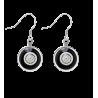 Duo Milk - Hook earrings Black / Silver