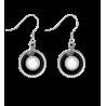 Duo Milk - Boucles d'oreilles crochet Noir / Blanc