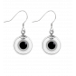 Hook earrings - Duo Milk Black / Silver