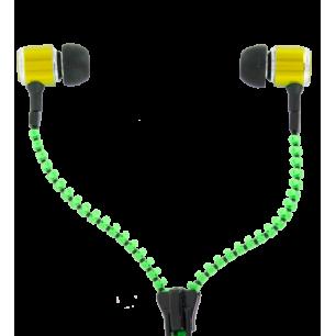 Earphones - Zipper - Green