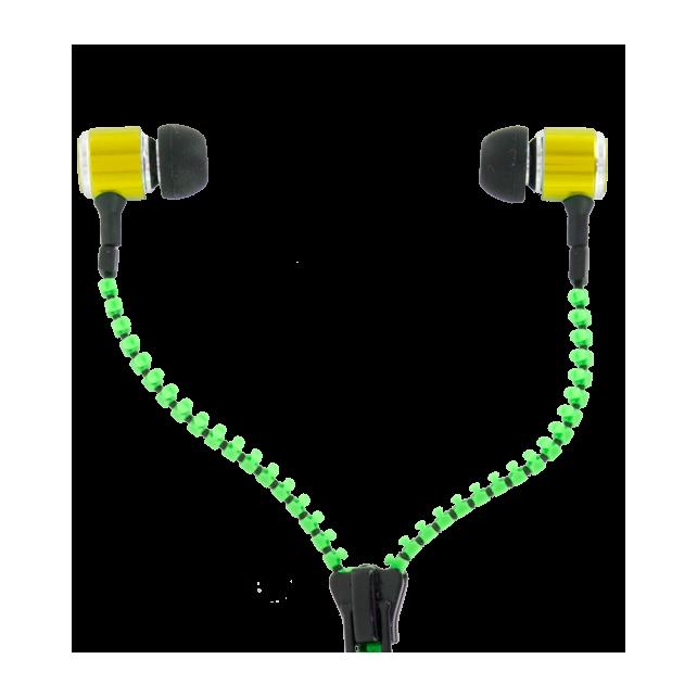 Auricolari - Zipper Verde