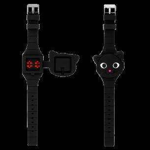 Orologio digitale per bambini - Aniwatch - Gatto nero