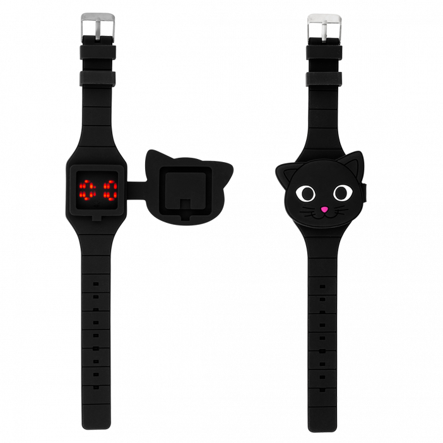 Montre LED - Aniwatch Chat noir