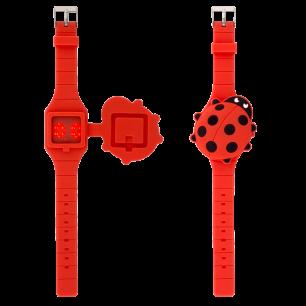 Uhr LED - Aniwatch - Marienkäfer