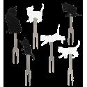 Pics apéritif - Pick Party Chat noir et gris