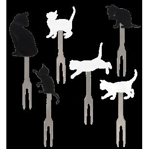Aperitifspieße - Pick Party - Chat noir et blanc