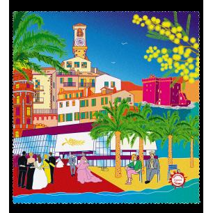 Tissu microfibre pour lunettes - Belle Vue City - Cannes