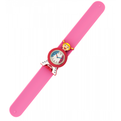 Montre slap - Funny Time - Tour Eiffel Rose