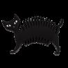 Soapycat - Porte savon Noir