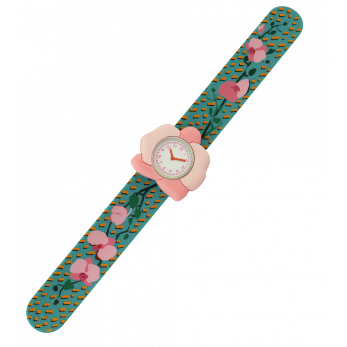 Funny Time Animal - Montre slap Orchid Blue
