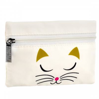 Geldbörse - Mini Purse - White Cat