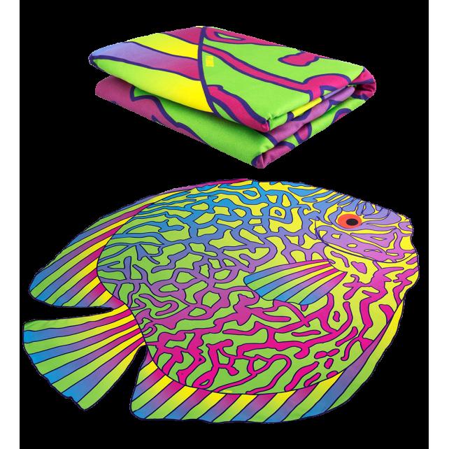 Microfibre towel - Body DS Shape Large Under the sea