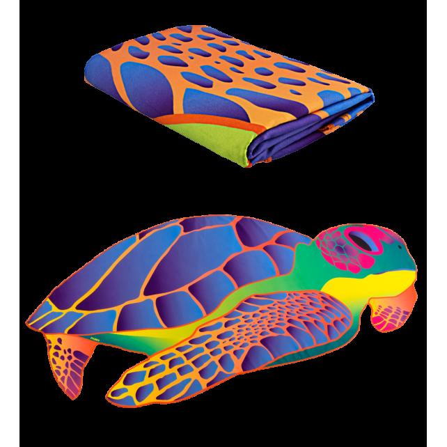 Microfibre towel - Body DS Shape Medium Under the sea