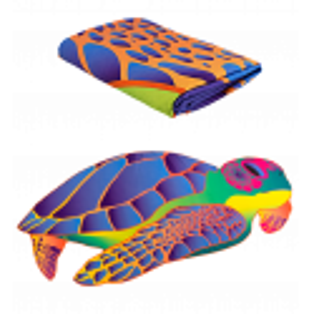 Serviette microfibre - Body DS Shape Medium Turtle