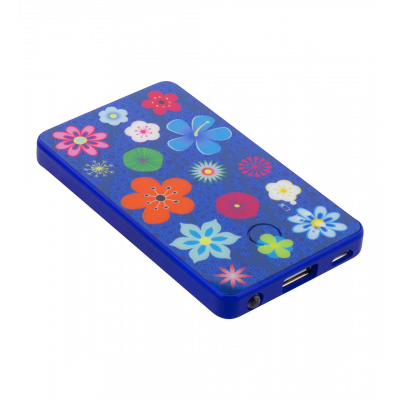 Portable battery - Get The Power - Blue Flower