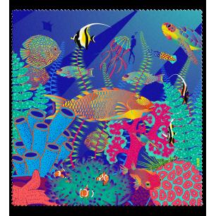 Tissu microfibre pour lunettes - Belle Vue - Under the sea