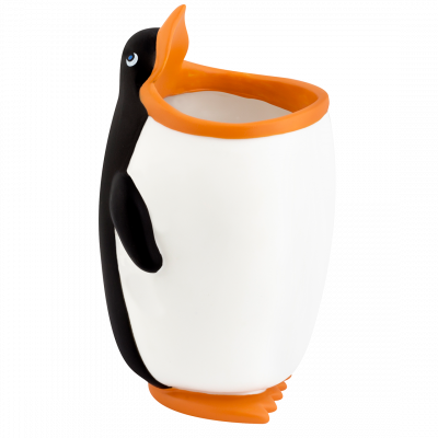 Pencil and pen holder / Toothbrush Holder - Popet - Penguin