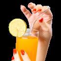Blown glass straw - Papaye