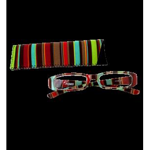 Corrective lenses - Lunettes X4 Rectangle Bayadère