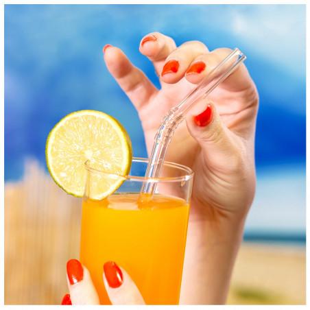 Trinkhalm aus Glas - Papaye