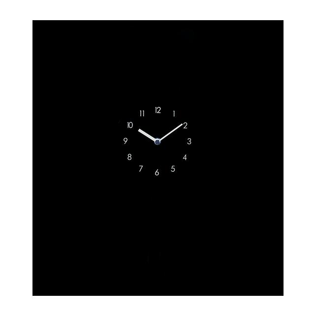 Cat - Horloge Chat Schwarz