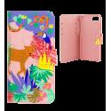 Klappdeckel für iPhone 6, 6S, 7 - Iwallet2 Blue Flower