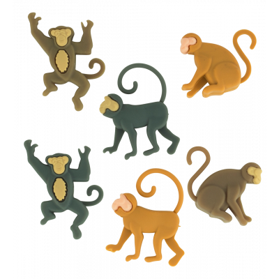 Set de 6 marqueurs de verre - Happy Markers - Jungle
