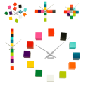 Clock with 12 cubes - Tic Tac