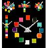 Horloge 12 cubes - Tic Tac