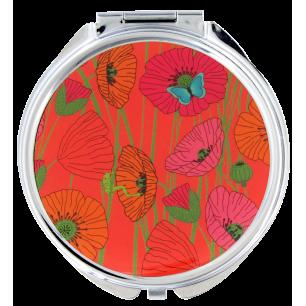Pocket mirror - Lady Look - Coquelicots