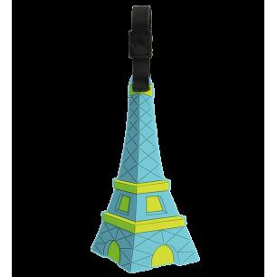 Etiquette de bagage - Ani-luggage - Tour Eiffel Bleue