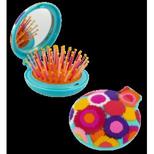 Haarbürste mit Spiegel 2 in 1 - Lady Retro - Pompon